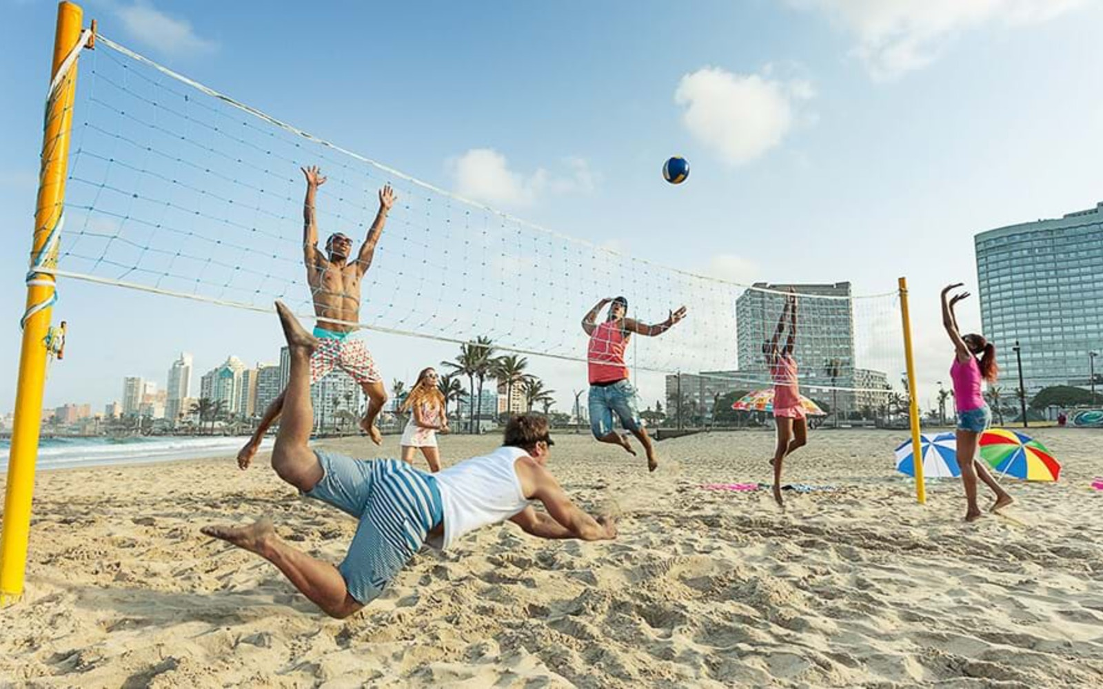 Volleyball on Durban's Golden Mile