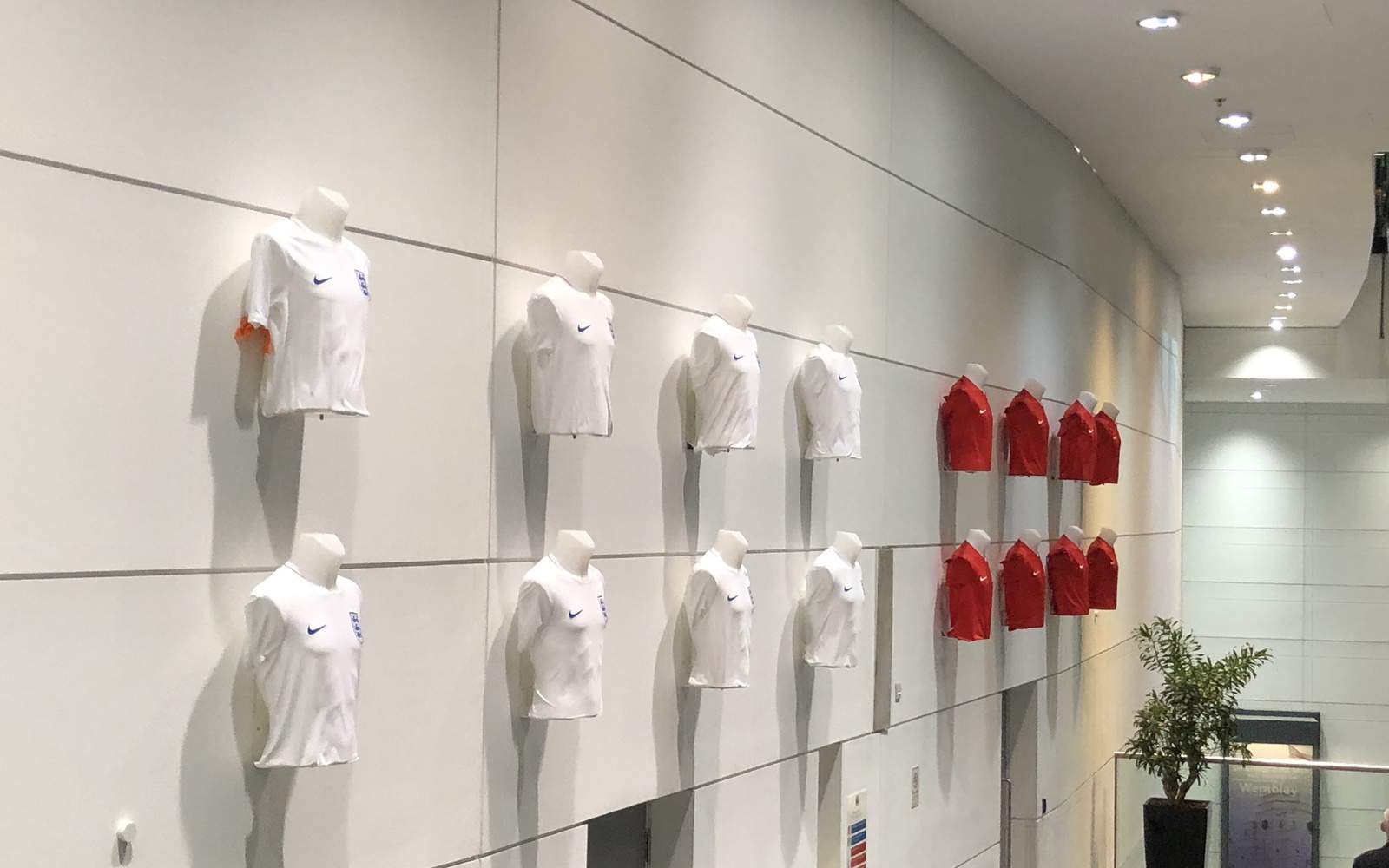 The team shirts displayed