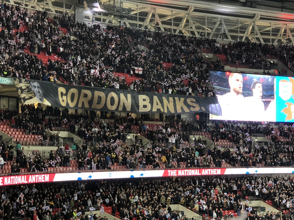 The game dedicated to Gordon Banks